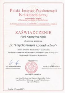 Psychoterapia i poradnictwo. Psychoterapeuta Lublin