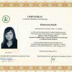 Certyfikat w zakresie doradztwa zawodowego. Psycholog Katarzyna Stadejek
