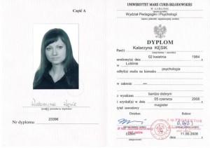 Dyplom Psycholog Lublin